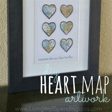 Handmade Anniversary Gifts For Husband - diy map living well spending less 174