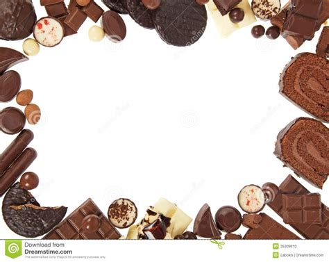 Frames For Home Decoration by Frame From Chocolate Sweets Stock Photo Image 35309610