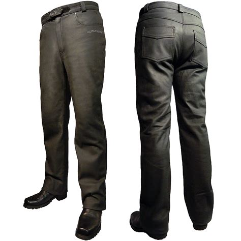 Men's Rida Tec Leather Bike Jeans by Bikers Paradise