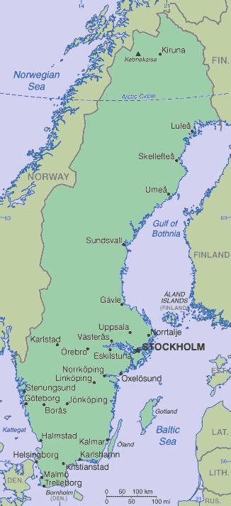 physical map of sweden physical maps of sweden bosmogelas