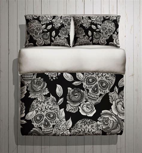 Sugar Skull Bedding Any Color Mega Print With Large Skull Bedding Set