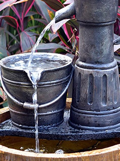 aqua moda solar pump on wooden barrel waterfeatures2go