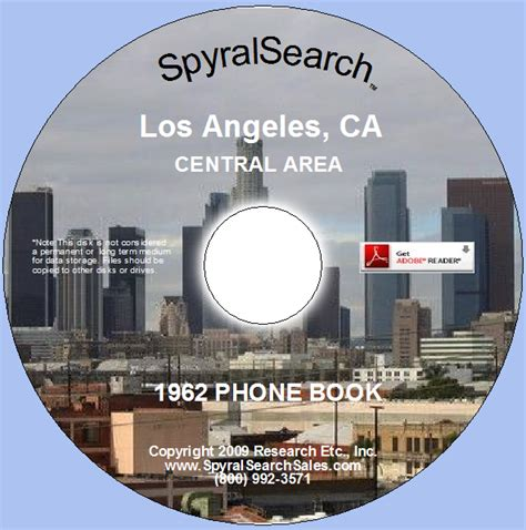 search in los angeles area ca los angeles 1962 phone book