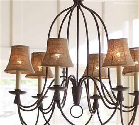 Luster Pro Light Review Mini Burlap Chandelier Shade Set Of 3 Traditional