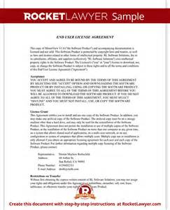 eula template end user license agreement eula template with sle