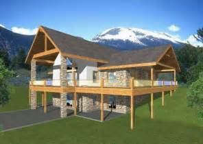one story house plans with walkout basement fourplans great vacation homes builder magazine