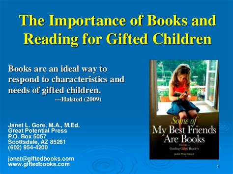 the importance of picture books the importance of reading for gifted children