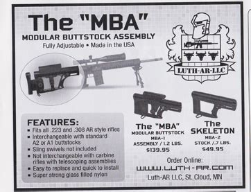 Luthr Mba 3 by 4 Gun Industry Ads 3 31 2014