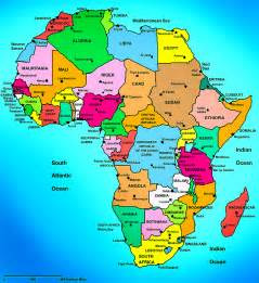 Africa Map Capitals by Maps Of African Continent Countries Capitals And Flags