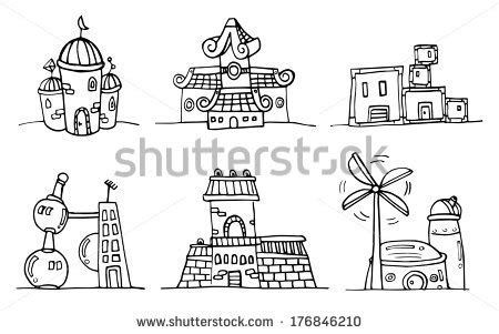building doodle stock photos royalty free images vectors