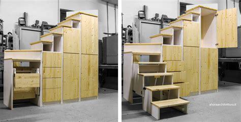 scale armadio scala interna a scomparsa ahora architettura