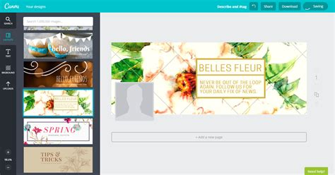 canva aplikasi 3 cara buat timeline cover profile picture di facebook