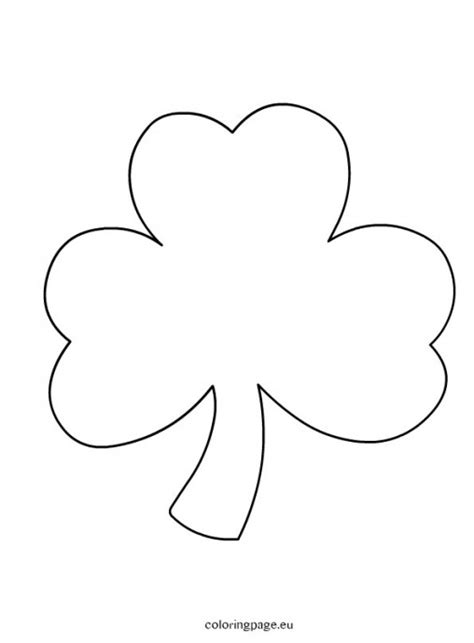 coloring pages shamrock template 4 best images of shamrock hat template printable large
