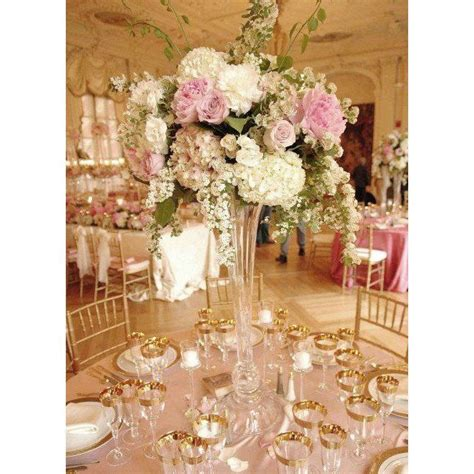 glass vase centerpieces best 25 trumpet vase centerpiece ideas on