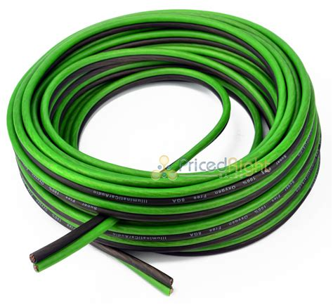10 ft of 8 black and green speaker zip wire cable