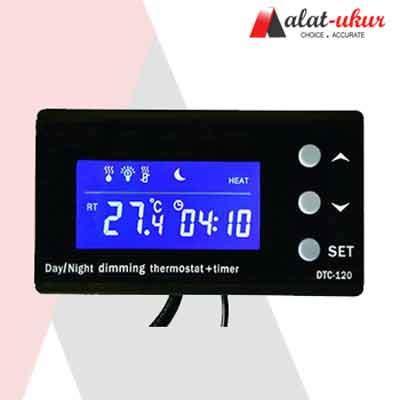 Thermometer Dan Thermostat dimming malam hari aquarium reptile thermostat dan timer