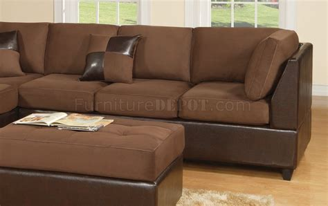 two tone sectional chocolate fabric modern two tone sectional sofa wbycast