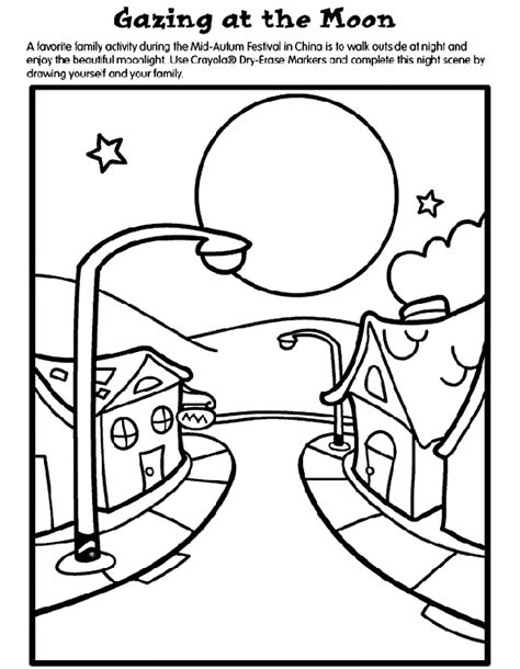 crayola coloring pages online games gazing at the moon crayola com au