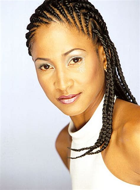 cornrow hairstyles for black women with part in the middle black hairstyles cornrows
