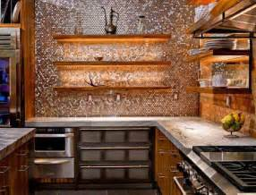 Metallic Kitchen Backsplash Make A Statement With A Metallic Kitchen Backsplash