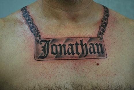 round neck chain tattoo for men round neck chain tattoo for men