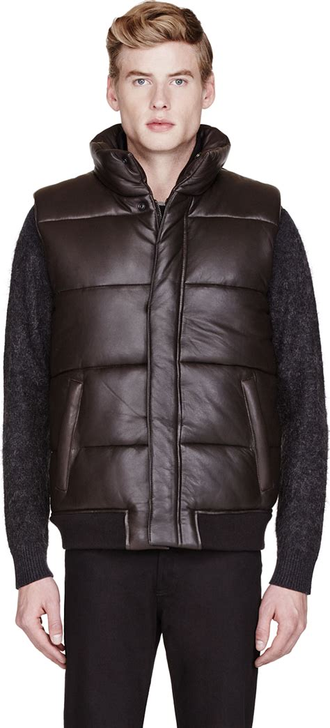 Marc By Marc Quilted by Marc By Marc Brown Leather Quilted Vest In Brown