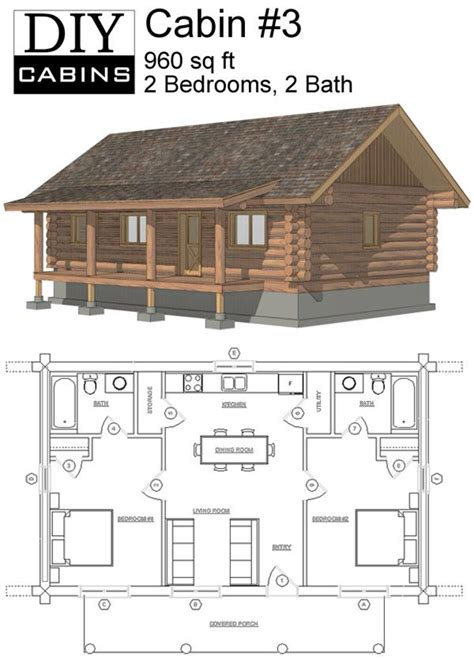 log cabin layouts maybe widen second for bunks or add a loft space with small beds or bunks small houses i like