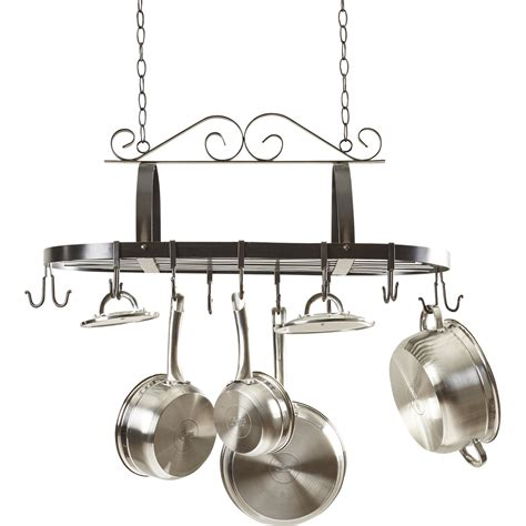 Kitchen Pot And Pan Hanging Rack darby home co kitchen hanging pot rack reviews wayfair
