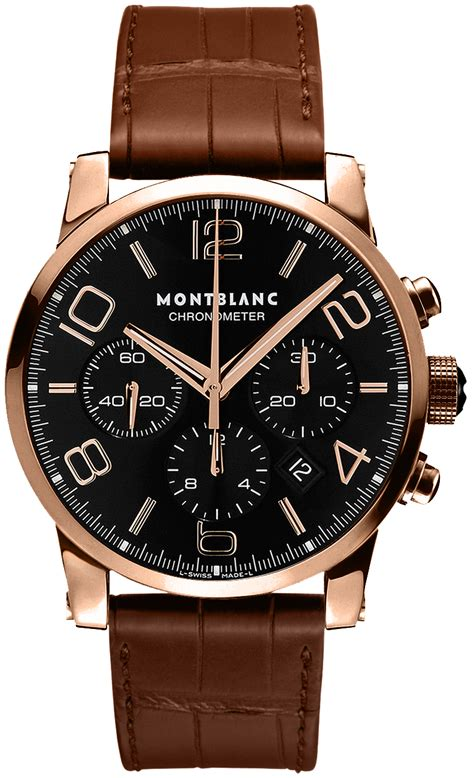 For New Cronograph 101565 montblanc timewalker chronograph mens gold