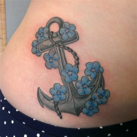 anchor and forget me not flowers by welcometoreality on