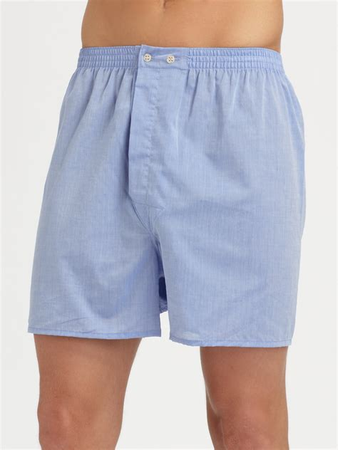derek solid boxer shorts in blue for lyst