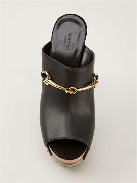 Gucci 666 3 Platform Heels gucci platform mules in black lyst