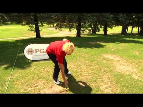 sweeping golf swing professional golf tip hit through the ball sweeping