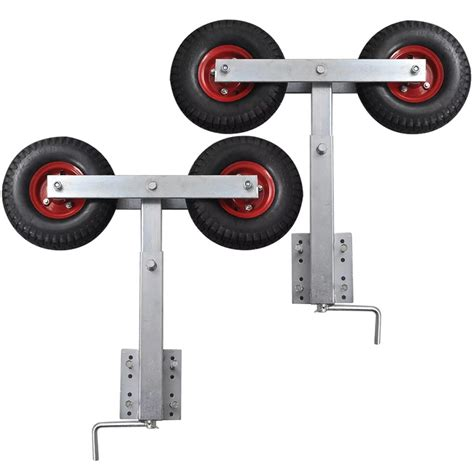 boat trailer motor support boat trailer double wheel bow support set of 2 2 3