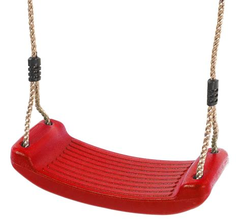 red swing deluxe red plastic swing seat red plastic swing
