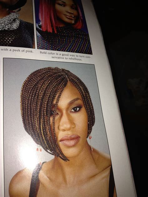 pics of a braided bob style with the back nape shaved box braid bob natural hair natural hair pinterest