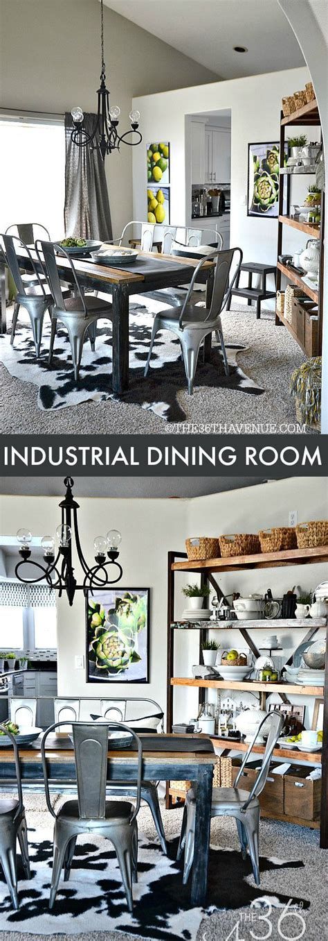 Dining Room Decor Pictures Home Decor Industrial Dining Room Decor At The36thavenue