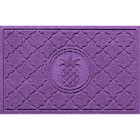Purple Front Door Mat Front Door Mat Pineapple In Doormats