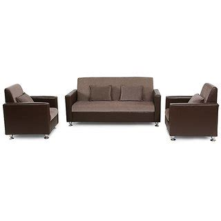 cushion sofa set price westido sofa set in brown upholstery with 4 cushions buy