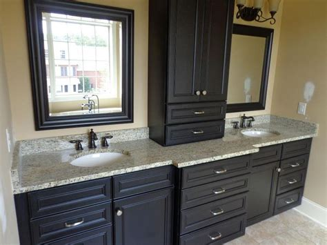 dark cabinets in bathroom dark cabinets with light granite for the home pinterest