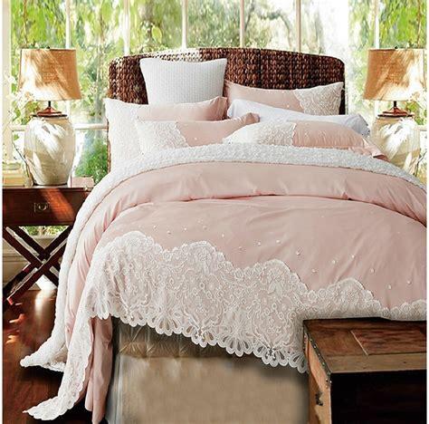 lace bedding paris pink lace egyptian cotton duvet cover set