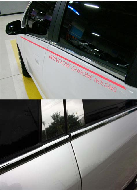 under molding trim for kia 2010 2013 soul chrome window under line sill