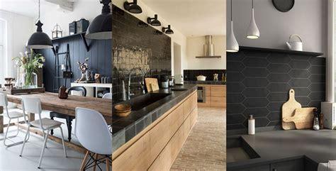 cuisine mur noir un mur noir dans la cuisine les brindilles
