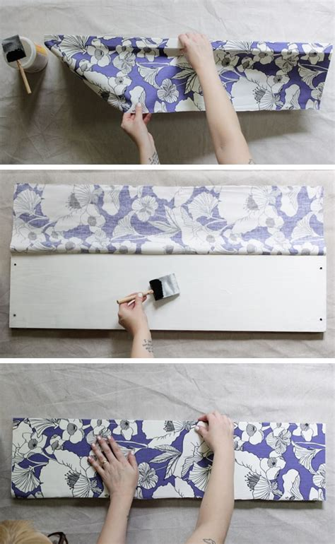 decoupage with fabric tutorial how to decoupage fabric onto shelves mod podge rocks