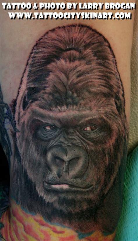 tattoo of us gorilla paradise tattoo gathering tattoos larry brogan