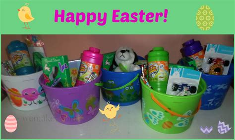 pre filled easter baskets or fill your own wemake7