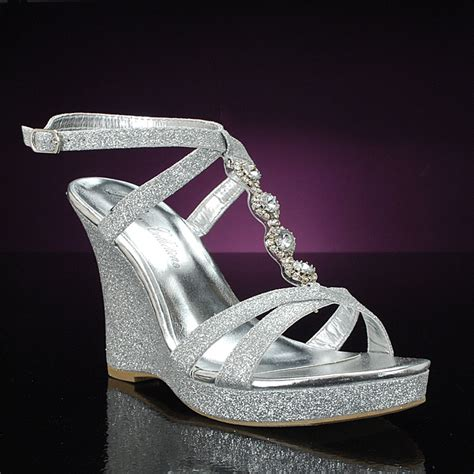 Silver Wedge Wedding Shoes silver wedge wedding shoes are in this season wedding