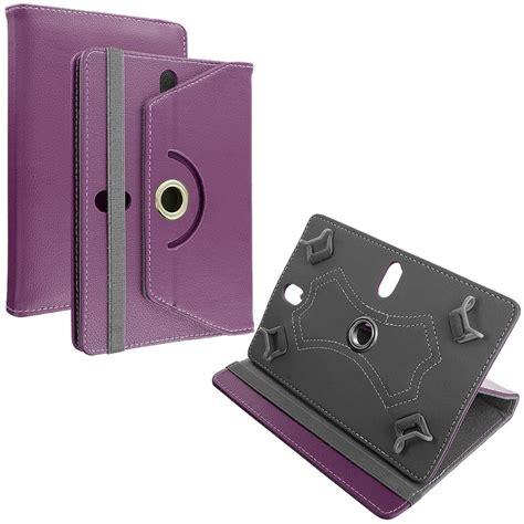 Lathercase Universal 7 universal 7 folio 360 flip leather tablet purple