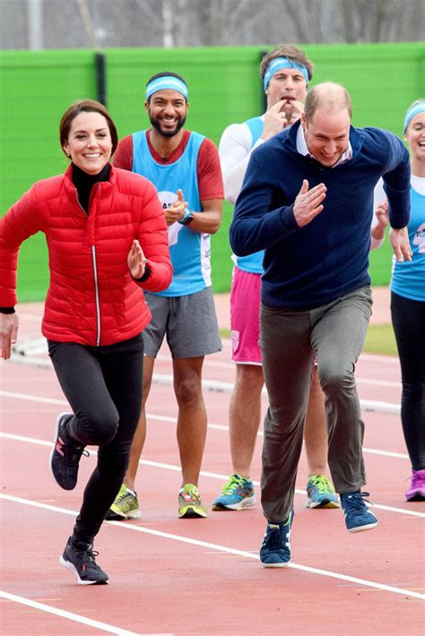 kate middleton and prince william at marathon pictures watch kate middleton run in new balance sneakers photos