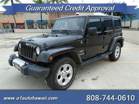 Oahu Jeep Dealers 2013 Jeep Wrangler Unlimited For Sale In Honolulu Hi
